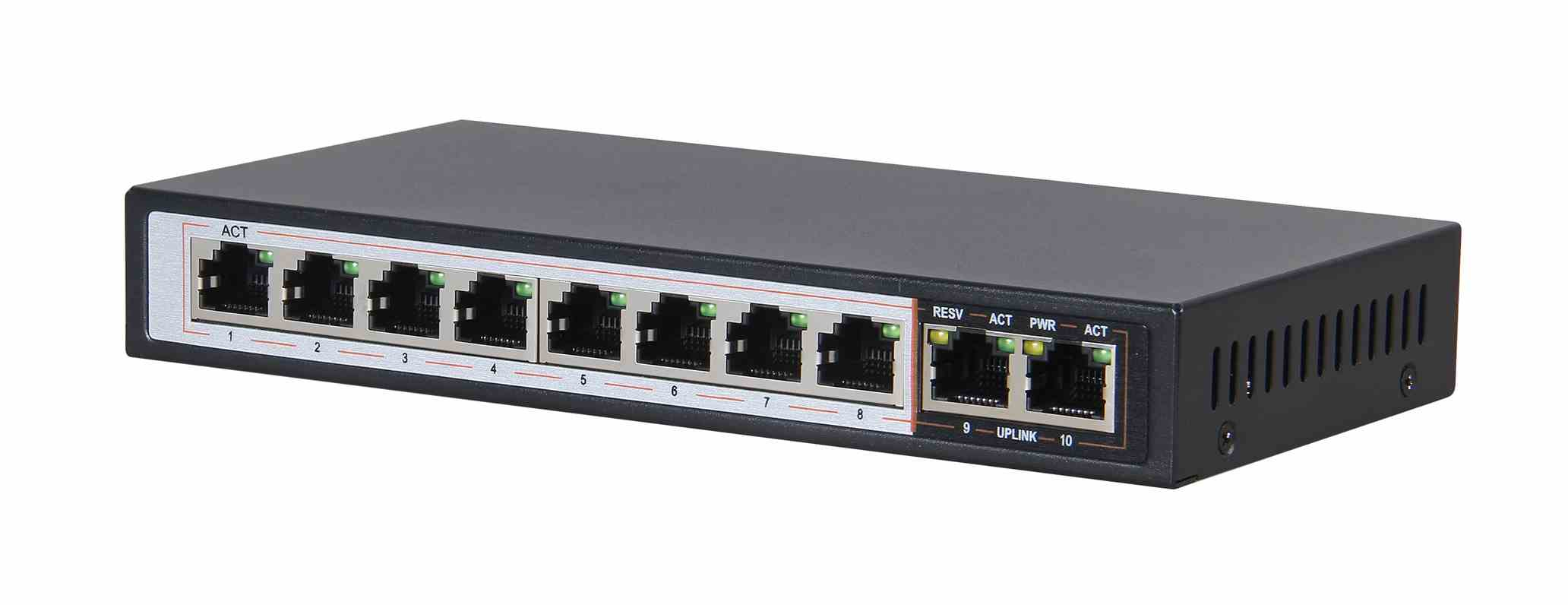 Extralink PERSES Switch PoE vista laterale