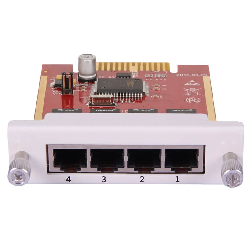 Modulo 4BRI Zycoo Scheda ISDN Flusso Base - Vista Frontale