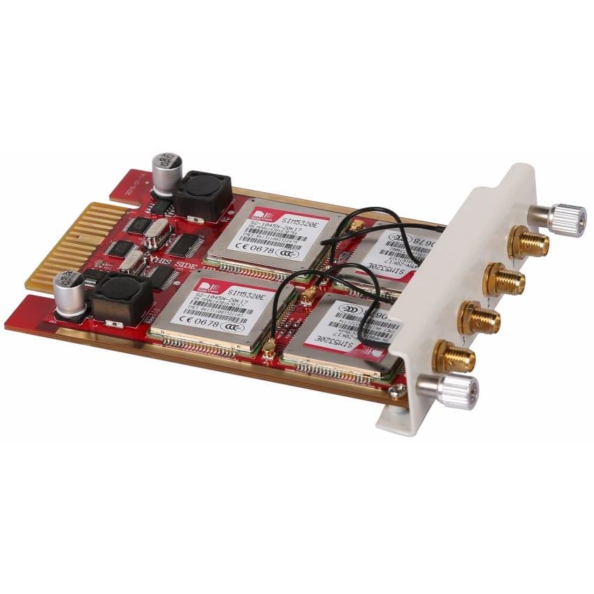Modulo 4WCDMA Zycoo Scheda per 2 SIM 3G- Vista Laterale Sinistra