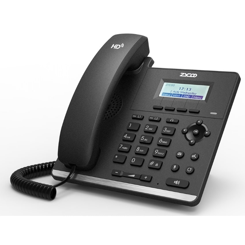 IP-Phone Zycoo H81 - Vista Laterale Sinistra
