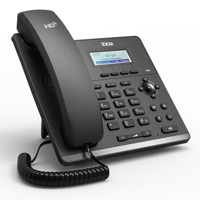 IP-Phone Zycoo H81 - Vista Laterale Destra
