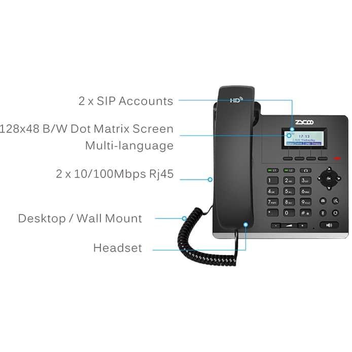 IP-Phone Zycoo H81 - Tabella Funzioni