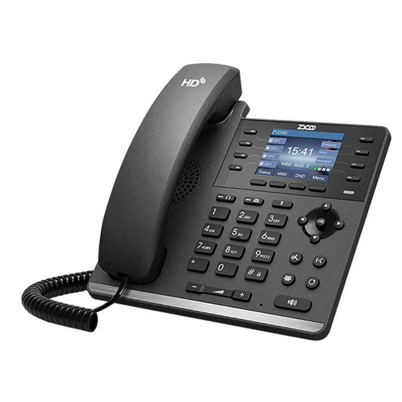 IP-Phone Zycoo H83 - Vista Laterale Sinistra