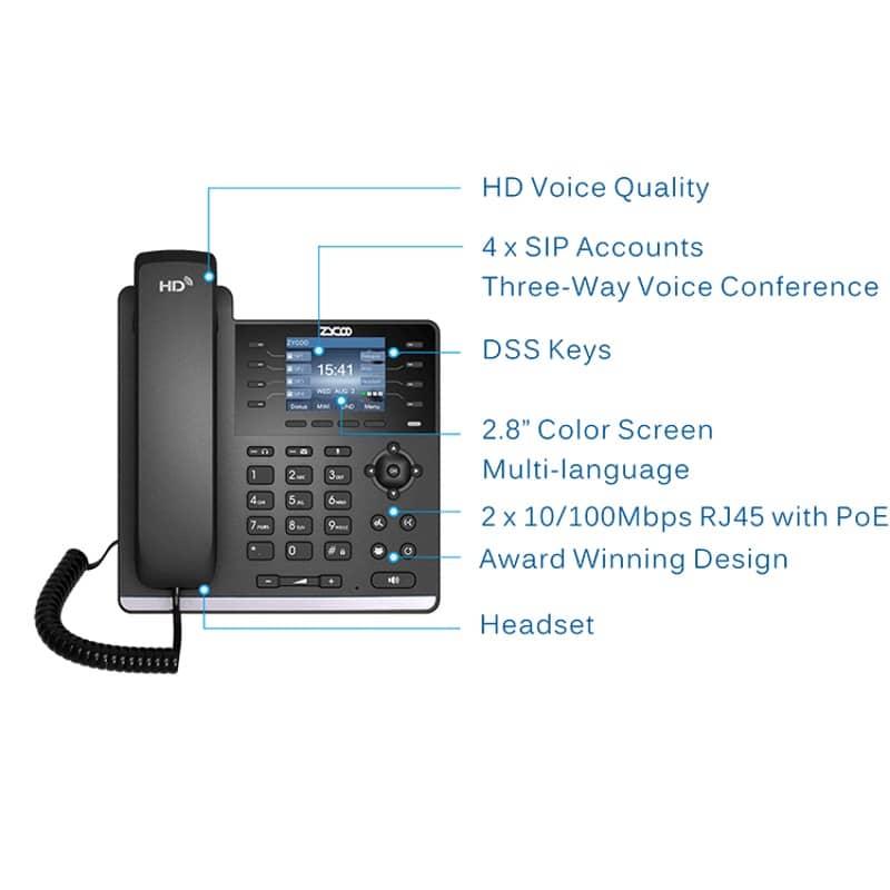 IP-Phone Zycoo H83 - Tabella Funzioni
