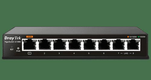 VigorSwitch G1080 DrayTek - Vista Frontale