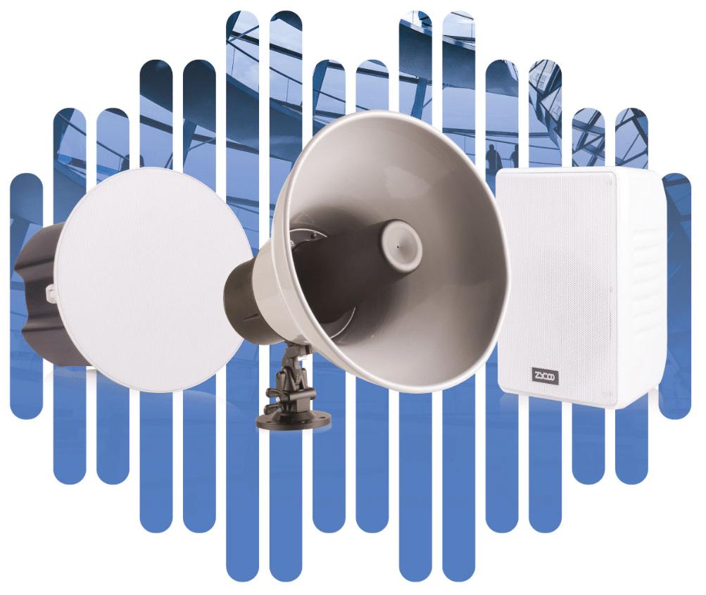 IP Audio Altoparlanti Onda Vista di Gruppo