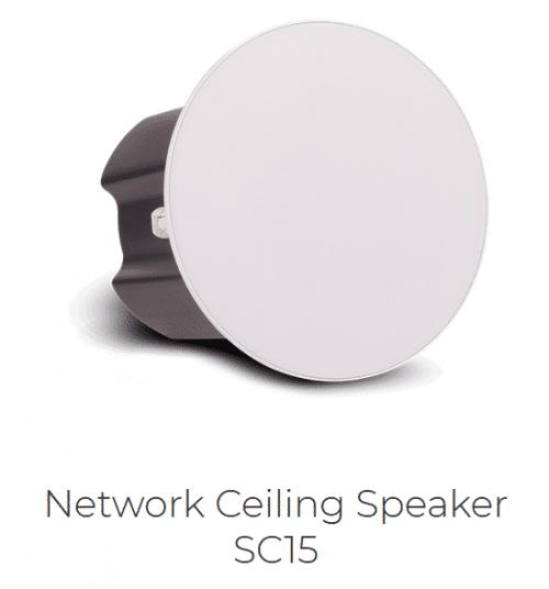 IP Audio SC15 Altoparlante a Soffitto Vista Fianco Sinistro