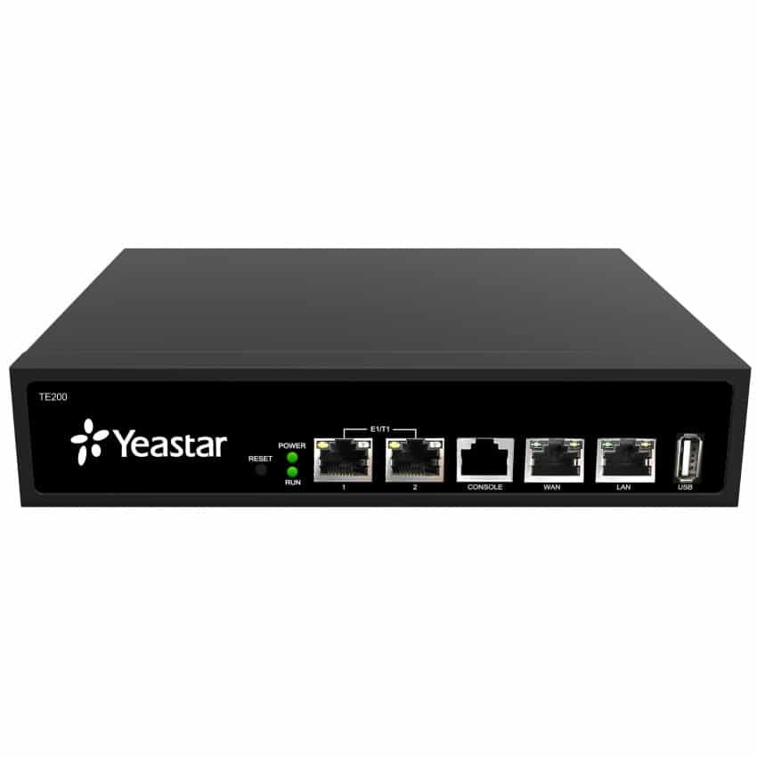 Gateway TE200 Yeastar - Vista Frontale