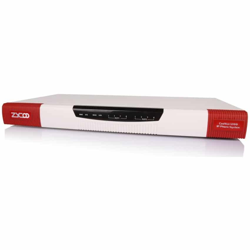 IP-PBX U100 Zycoo - Vista Laterale Sinistra