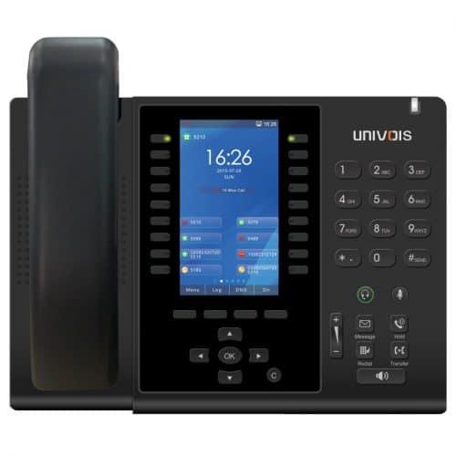 IP-Phone Univoice U6 - Vista Frontale