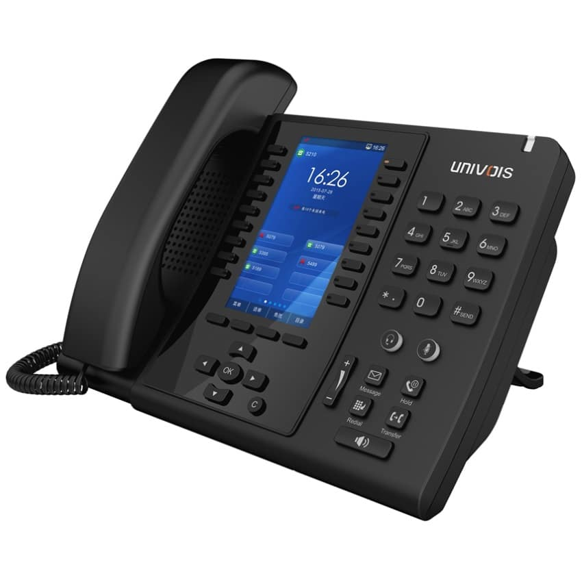 IP-Phone Univoice U6 - Vista Laterale Sinistra