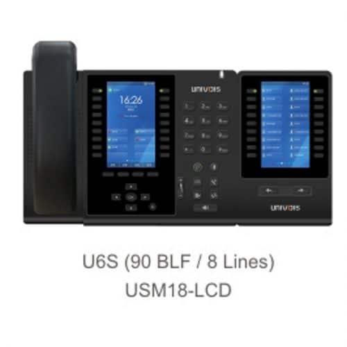 IP-Phone Univoice UM6+USM18 - Vista Frontale