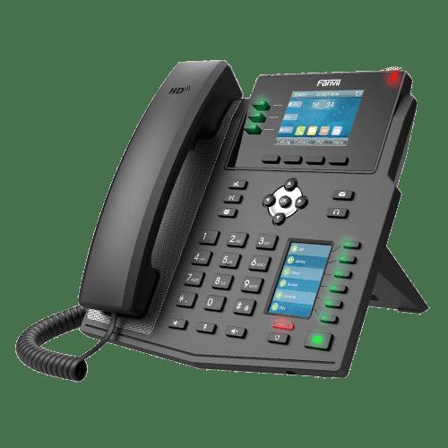 IP-Phone Fanvil X4U - Vista Laterale Sinistra