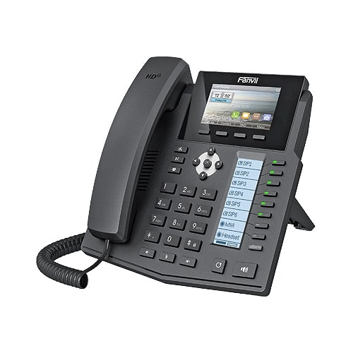 IP-Phone Fanvil X5s - Vista Laterale Sinistra