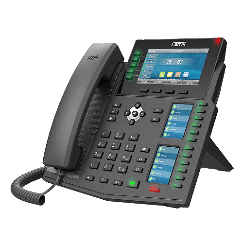 IP-Phone Fanvil X6U - Vista Laterale Sinistra