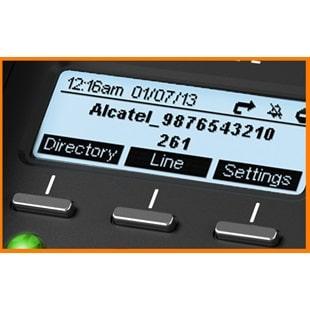 IP-Phone Alcatel Temporis IP251 - Display Softkeys