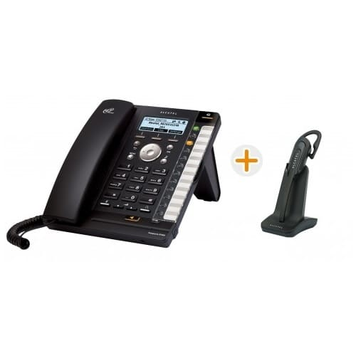 IP-Phone Alcatel Temporis IP301G+IP370 - Vista Laterale Sinistra